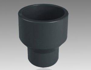 تبدیل چسبی یو پی وی سی - اتصالات یو پی وی سی از مواد اولیه (upvc) که یکی از قدیمی ترین موادی است که در پتروشیمی های کشور تولید می شود و به دلیل کیفیت بالایی که دارد و تحمل فشارهای pn10 و pn16 تا امروزه از استفاده آن نه تنها کاسته نشده بلکه موارد مصرف بیشتری هم پیدا کرده است. اتصالات یو پی وی سی upvc به وسیله دستگاه های تزریق پلاستیک تولید می شود. هر یک از اتصالات قالب مخصوص به خود را دارد و برای تولید هر یک از اتصالات قالب مخصوص آن باید روی دستگاه تزریق متصل شود. اتصالات یو پی وی سی UPVC که به علت تنوع زیاد اتصالات و شیرآلات در تاسیسات استخر و سونا و جکوزی مورد استفاده قرار می گیرد که از این نظر از اتصالات و شیرآلات پلی اتیلن و یا پلی پروپیلن مطمئن تر می باشد.