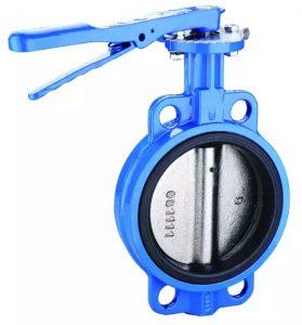 شیر پروانه ای ویفری یک شیر چرخشی یک چهارم می باشد که برای قطع ، تنظیم و وصل جریان سیال استفاده می شود. با چرخش دسته به صورت 90 درجه دسک یا زبانه کاملا باز یا بسته می شود. شیرهای بزرگ پروانه ای معمولا به اصطلاح گیربکس مجهز می شوند ، جایی که چرخ دستی توسط گیربکس به ساقه متصل می شود. این کار عملکرد شیر را ساده می کند، و می توان به راحتی و با فشار کم شیر را باز و بسته نمود.