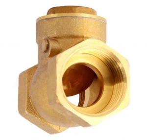 شیر یکطرفه دریچه ای برنجی (check valve) از فلز برنج که ترکیبی از فلز روی و مس می باشد ساخته شده است. و در کلیه پایپینگ های حامل سیال بکار می رود، و از برکشت سیال در سیستم جلوگیری می کند.  نحوه کار کرد این نوع شیر به طور خودکار می باشد که آن را شیر خودکار برنجی نیز می نامند. داخل شیر یک دیسک کروی وجود دارد که در یک جهت متحرک می باشد و با عبور سیال باز شده و چنانچه جریان سیال قطع شود با فشار برگشت سیال بسته می شود.
