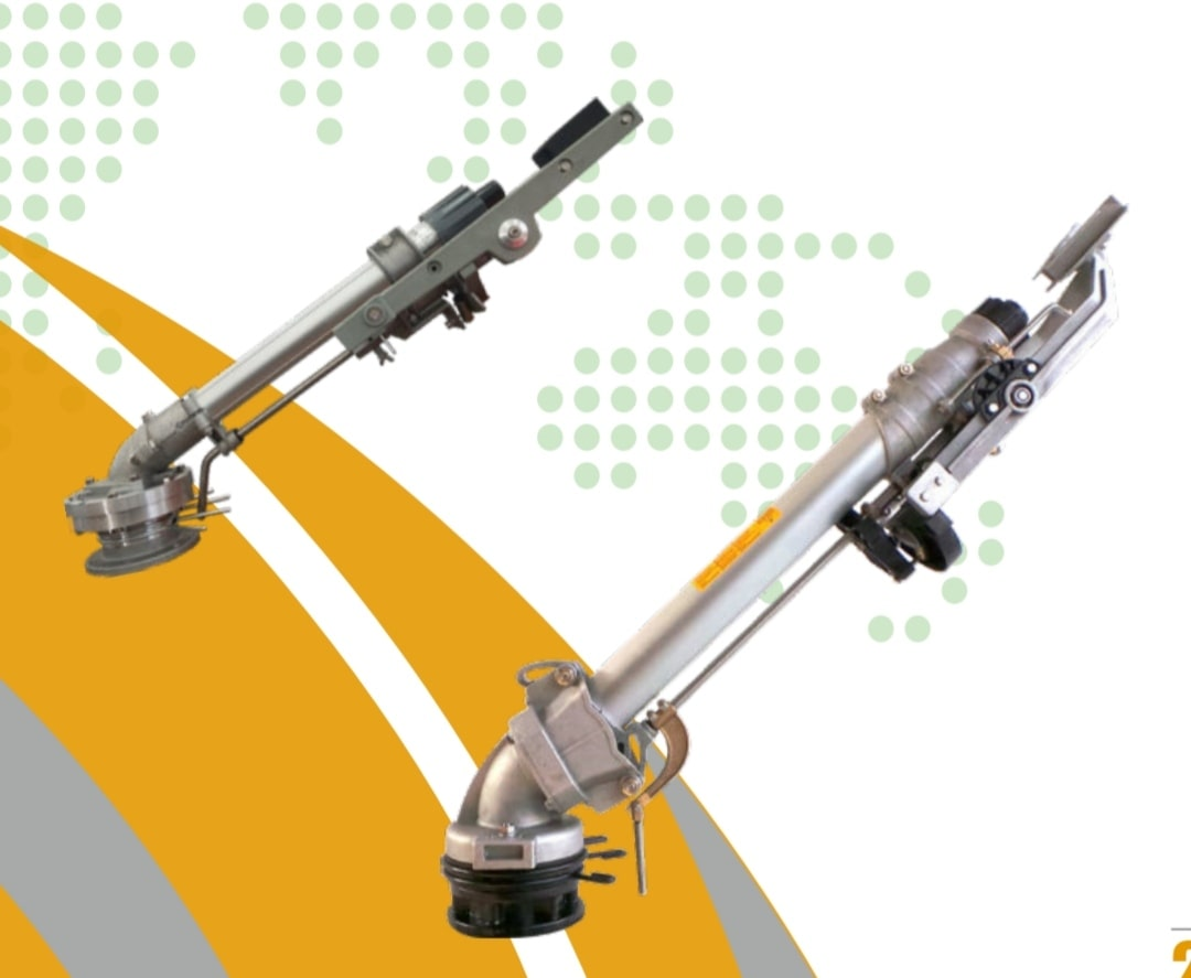 آبپاش آبیاری بارانی تفنگی معروف به آبپاش GAN شکل ظاهری آن شبیه تفنگ می باشد و تا طول 75 متر پاشش آب دارد.